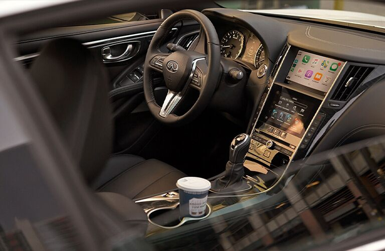 Interior of 2020 INFINITI Q60 vehicle