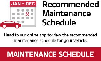 Head to our online app to view the recommended maintenance schedule for your vehicle.
