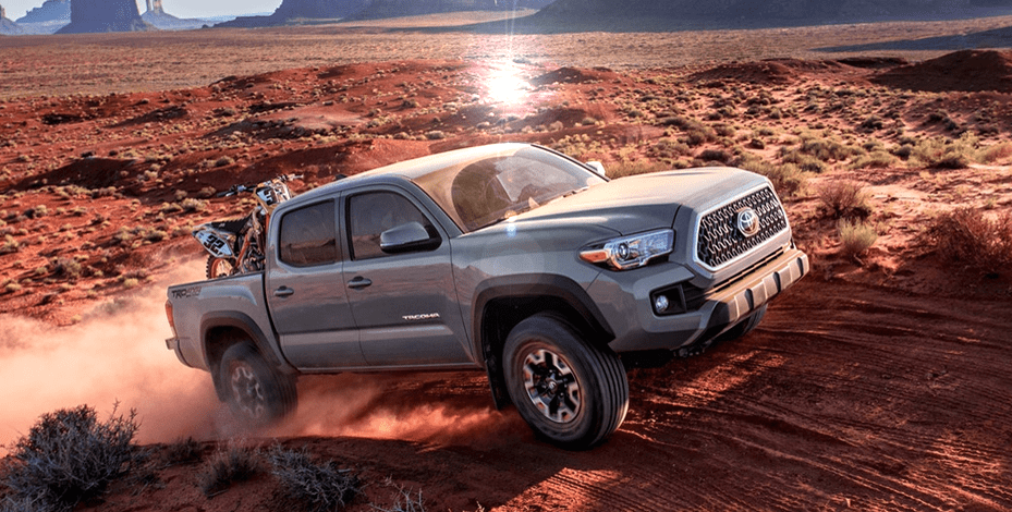 2019 Toyota Tacoma in gray