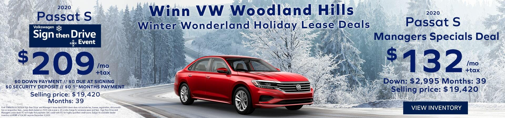 December Passat Sign then Drive lease deals