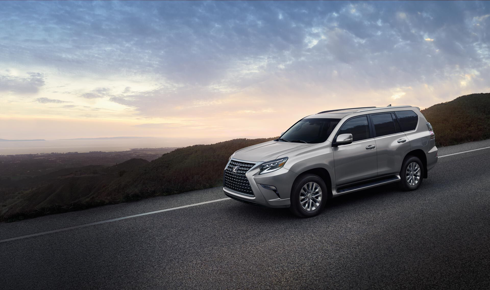 Exterior of the Lexus GX shown in Atomic Silver.