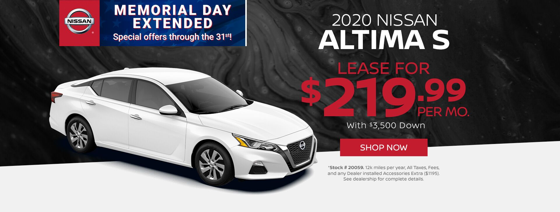 May - 2020 Altima S