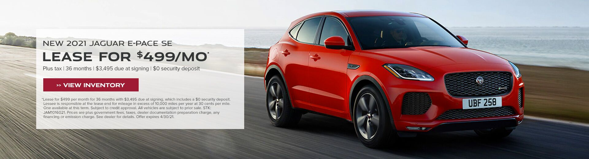 New 2021 Jaguar E-PACE SE