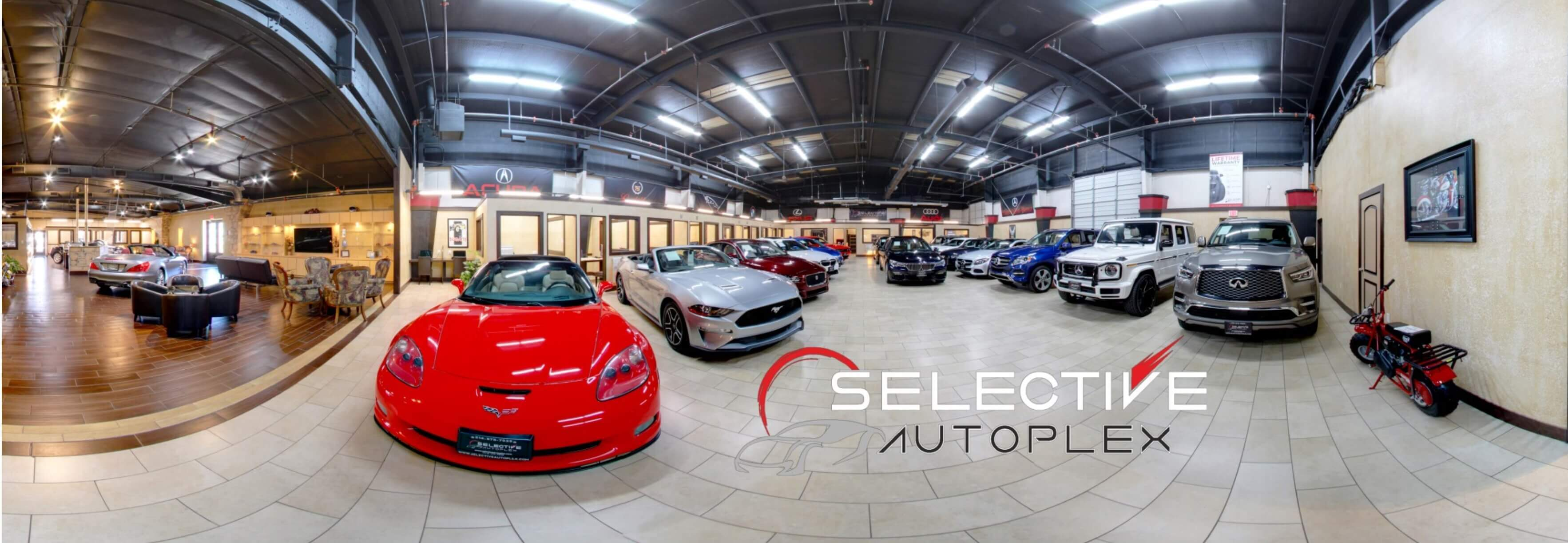 Showroom with Logo