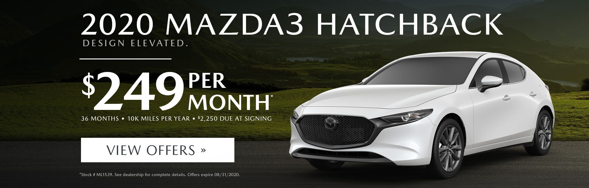Aug - 2020 Mazda3 Hatchback
