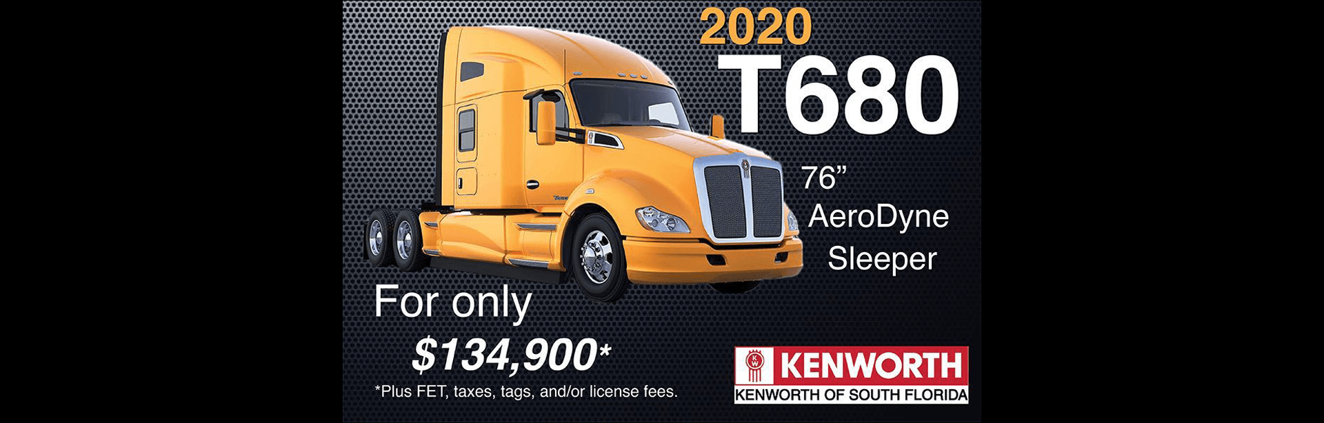 New 2020 Kenworth T680 For Sale in South Florida