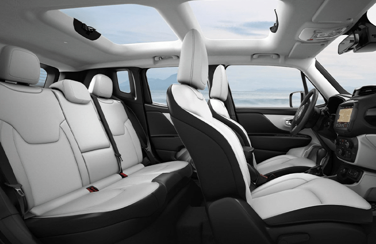 Interior seating in the 2020 Jeep Renegade