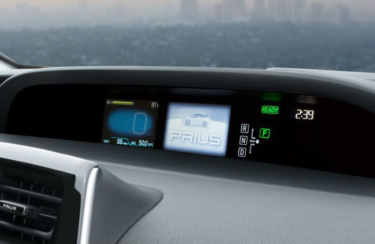 View of the 2017 Toyota Prius' dashboard