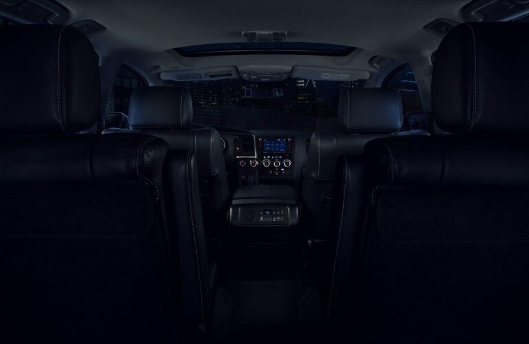 interior of the 2021 Toyota Sequoia nightshade edition