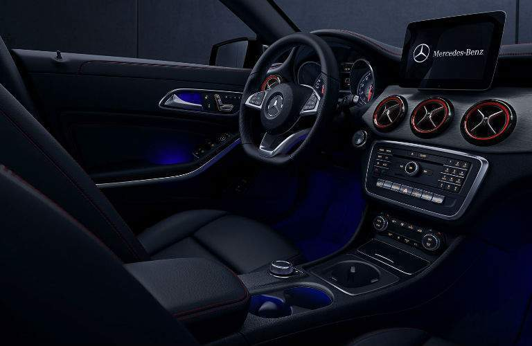 Front seats of the 2017 Mercedes-Benz CLA Coupe