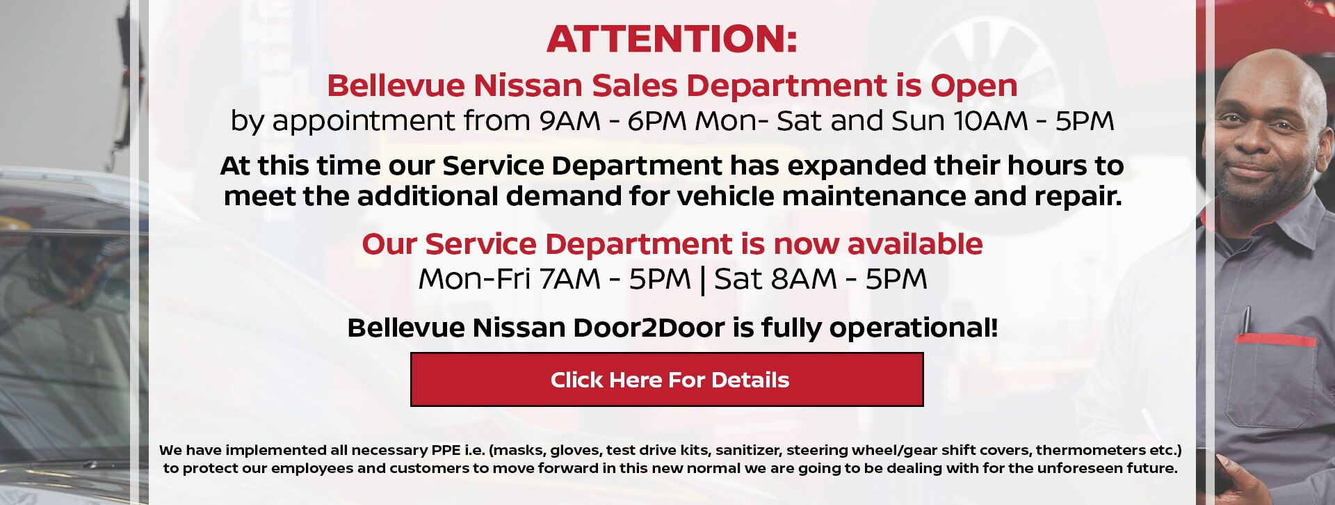 Sales and Service Depts