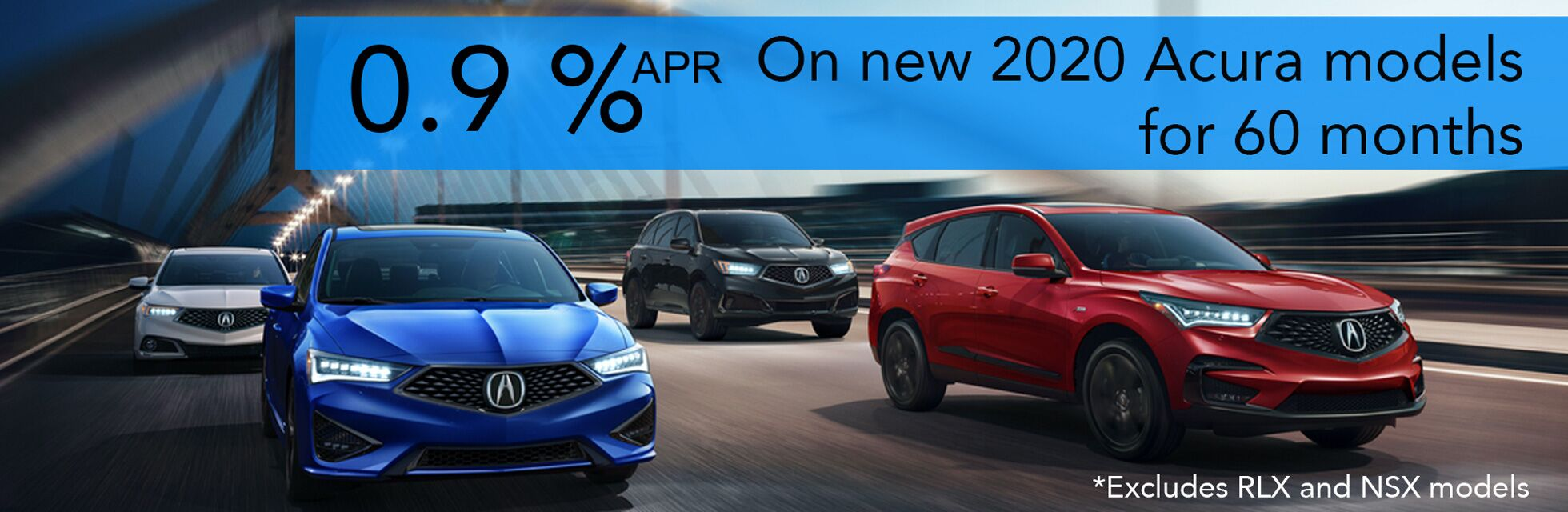 New Acura 0.9% APR Special