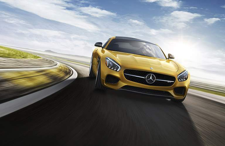 yellow merceds-benz gt