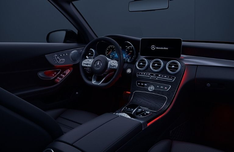 2021 MB C-Class Cabriolet interior steering wheel dashboard