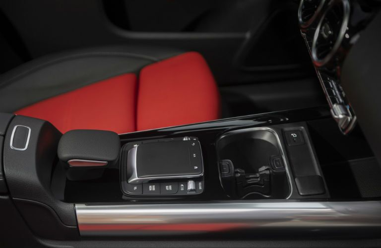 A photo of the lower console in the 2021 Mercedes-Benz GLA 250 4MATIC®.