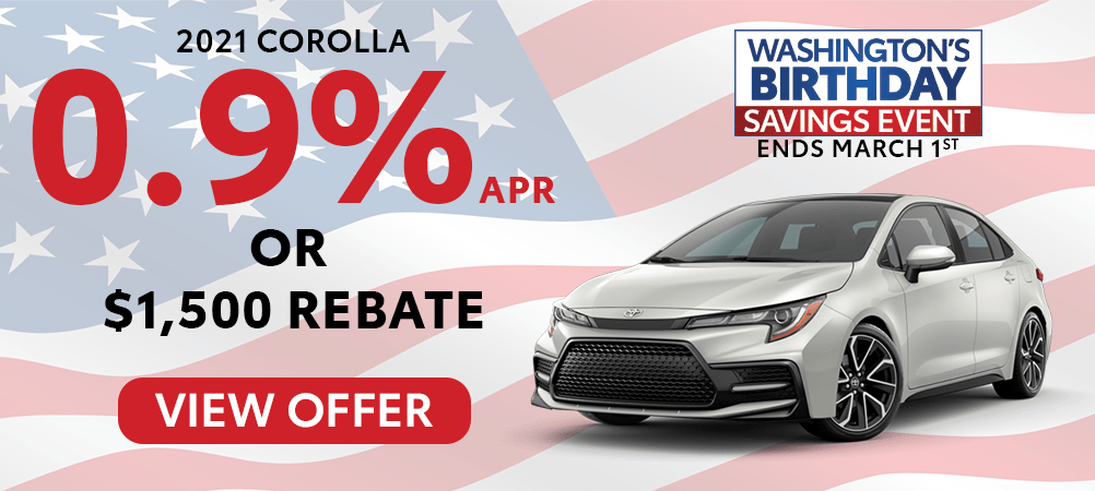 Corolla Feb. Incentive