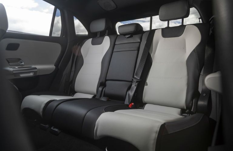 A photo of the rear seats in the 2021 Mercedes-Benz GLA.