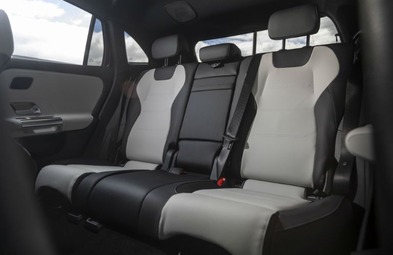 A photo of the backseats in the 2021 Mercedes-Benz GLA 250.
