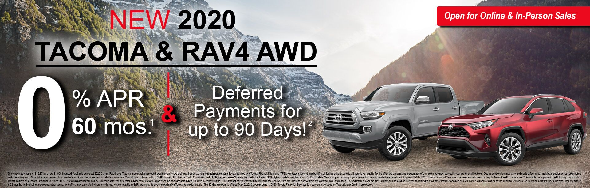 Tacoma & RAV APR Offer