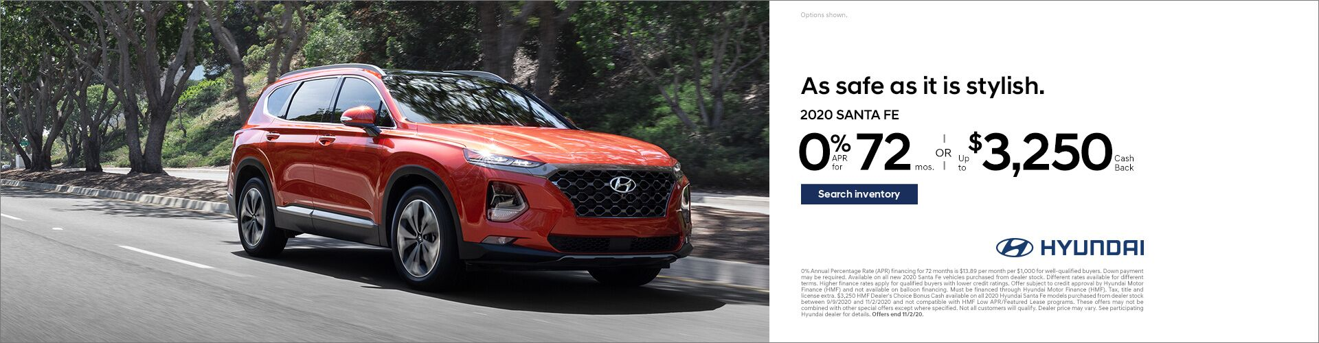 2020 September Hyundai Santa FE