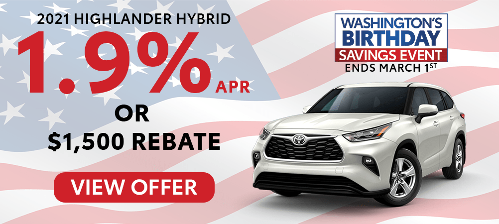 Highlander Hybrid Feb. Incentive
