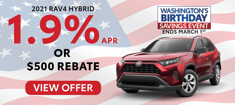 RAV4 Hybrid Feb. Incentive