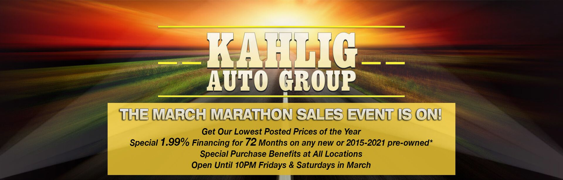 KAG March Sale