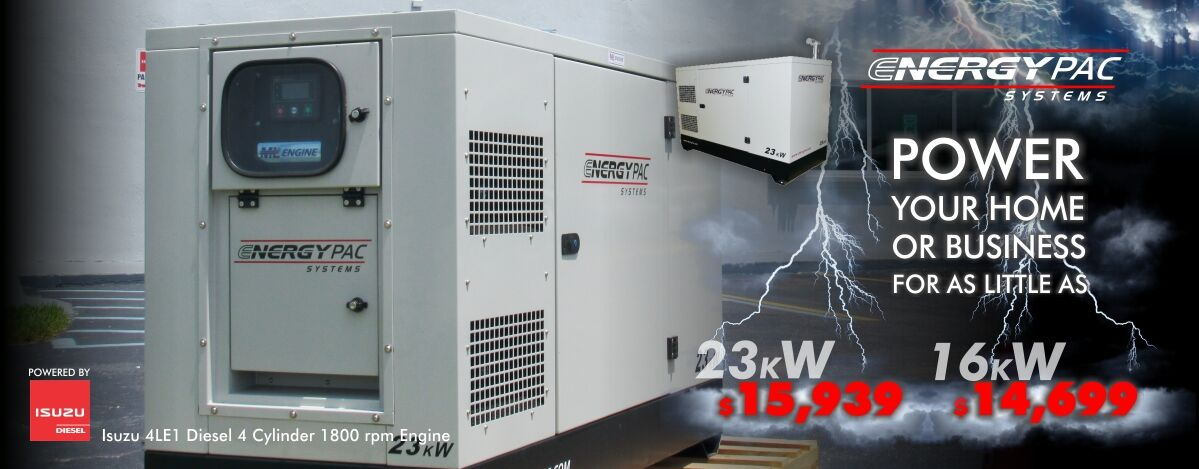Power Generators powered by Isuzu