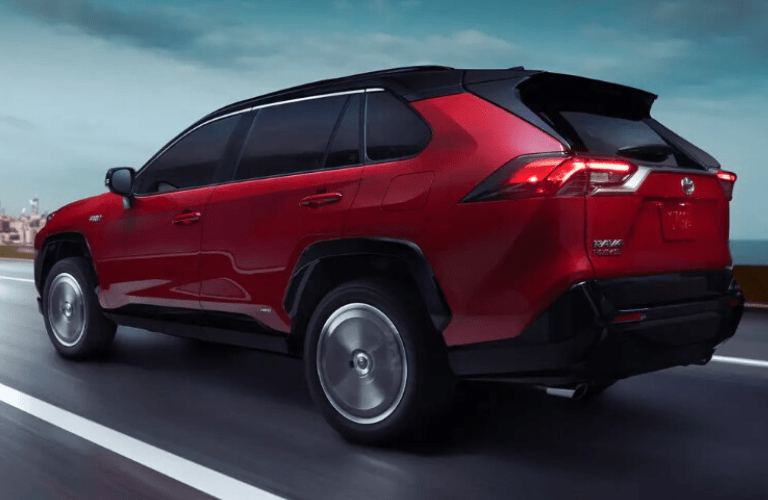 rear view of the 2021 Toyota RAV4 Prime