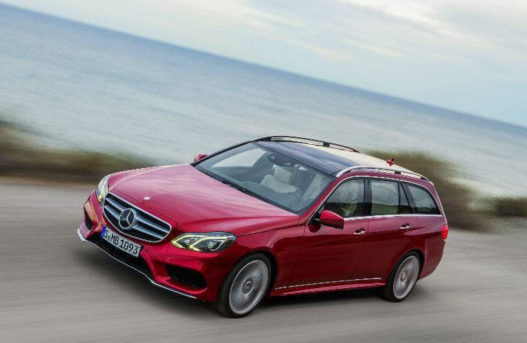 2018 Mercedes-Benz E-Class Wagon red side view