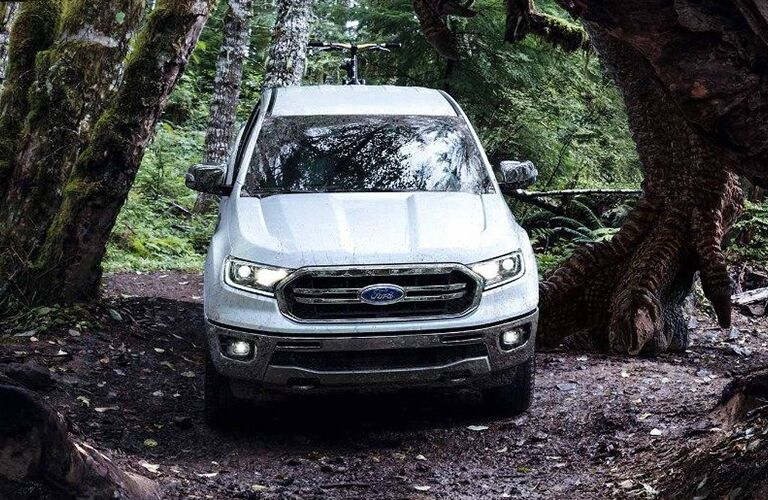 2019 Ford Ranger driving in the woods