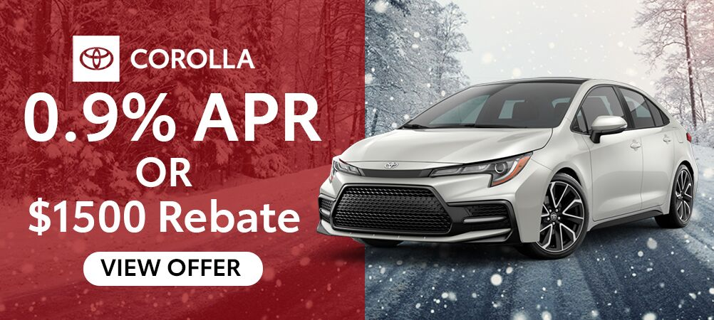 Corolla January Incentive