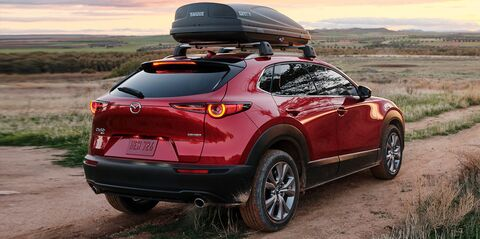 Mazda CX-30 in a plains region