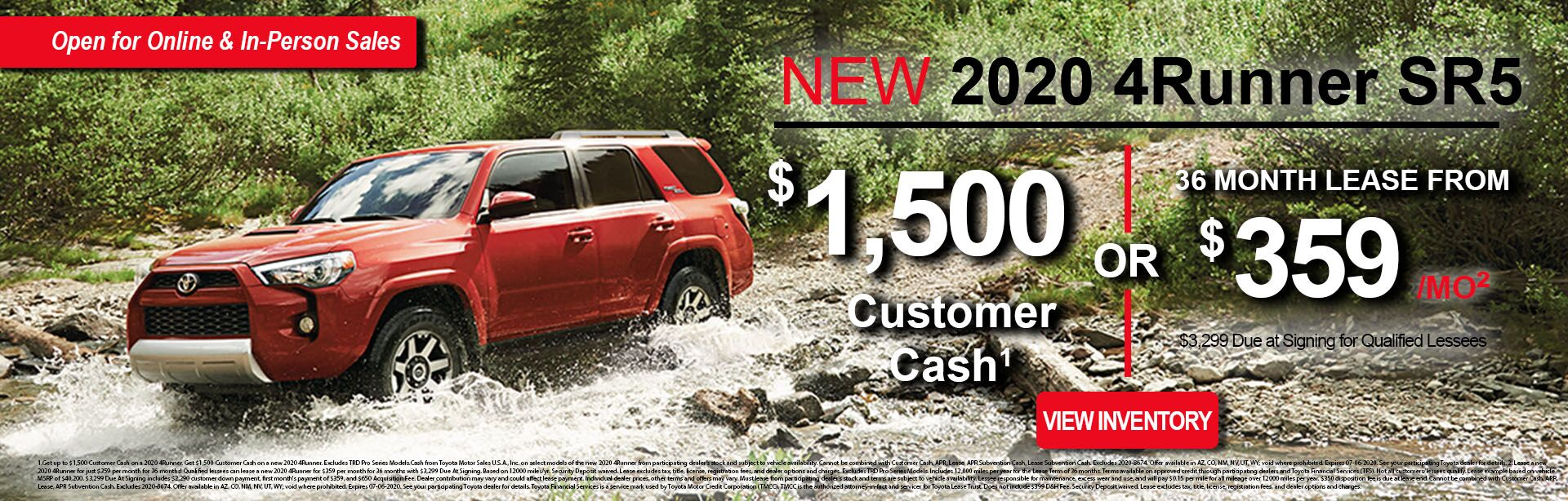 June 4Runner Lease Offer