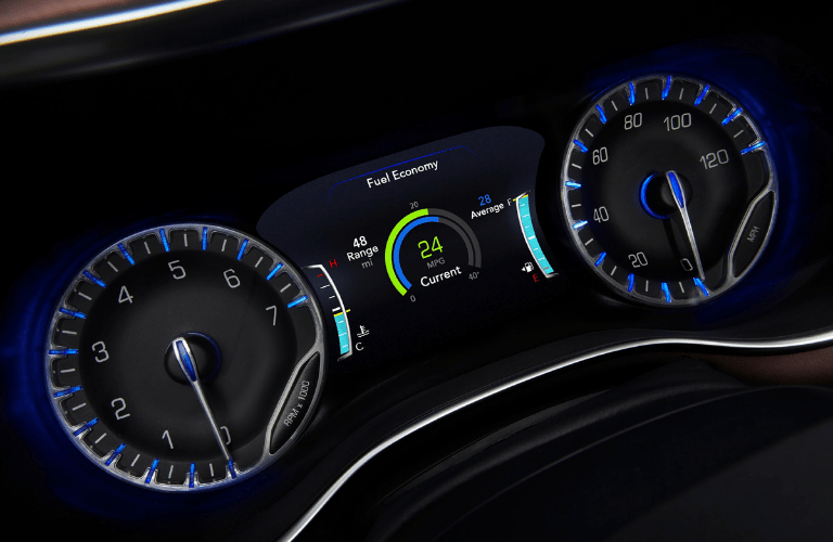 Dashboard gauges in 2020 Chrysler Pacifica