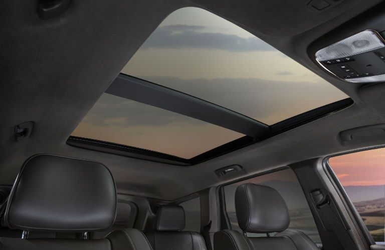 A photo of the sunroof available in the 2020 Grand Cherokee.