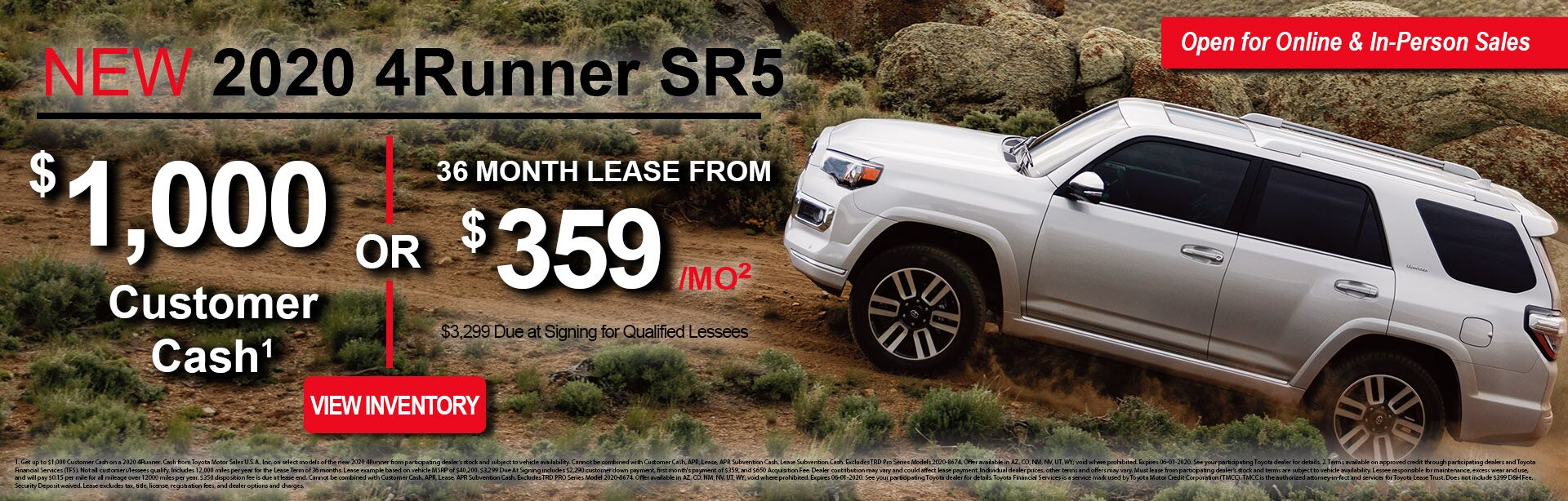 May 4Runner Lease Offer