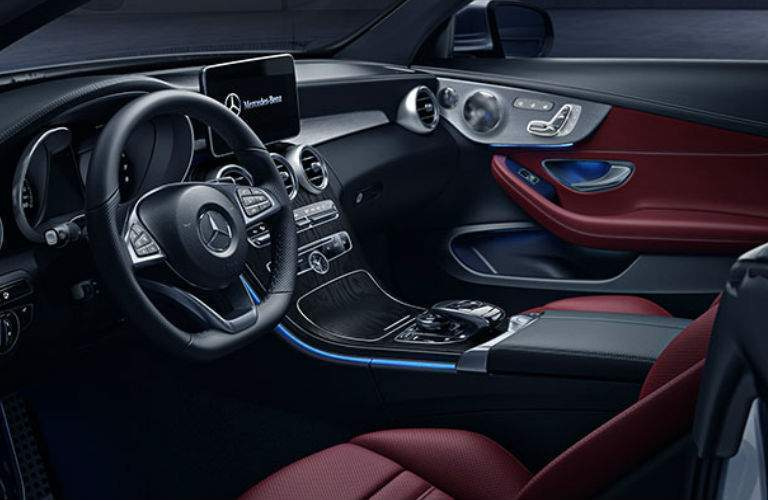 Front seats of the 2017 Mercedes-Benz C-Class Cabriolet