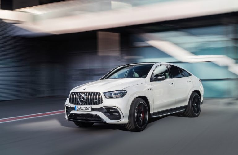 2021 MB GLE COupe exterior front fascia driver side blurred background