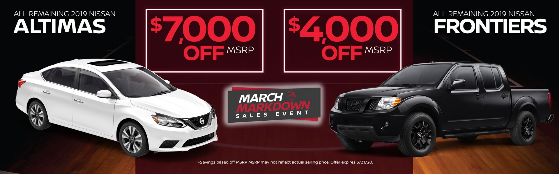 Remaining 2019 Altimas and Titans $4,000-$7,000 off MSRP