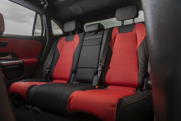 A photo of the rear seats in the 2021 Mercedes-Benz GLA 250 4MATIC®.