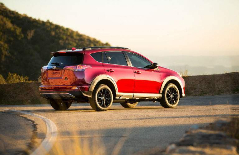 2018 Toyota RAV4 Adventure in the afternoon sun