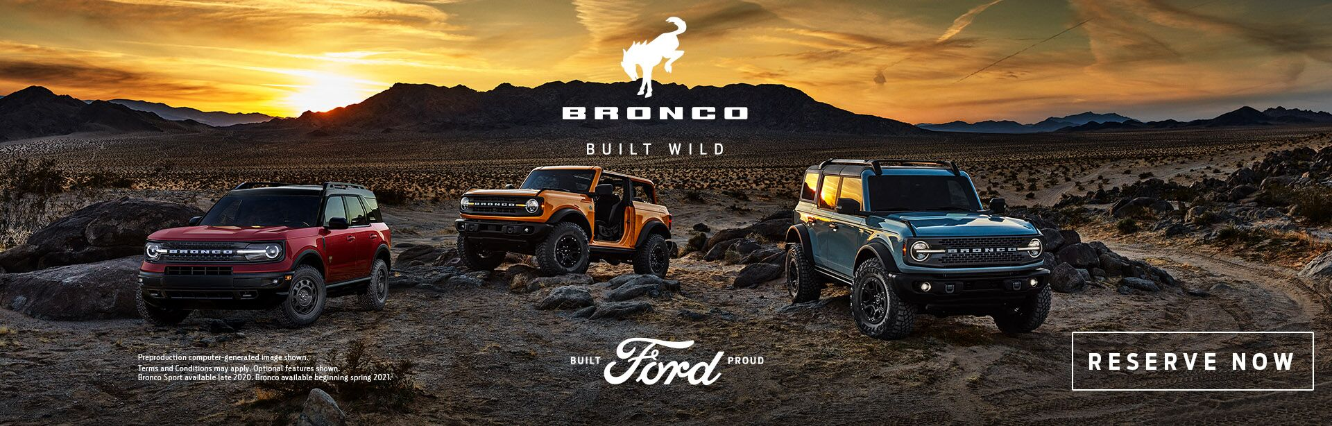 Reserve the ford bronco