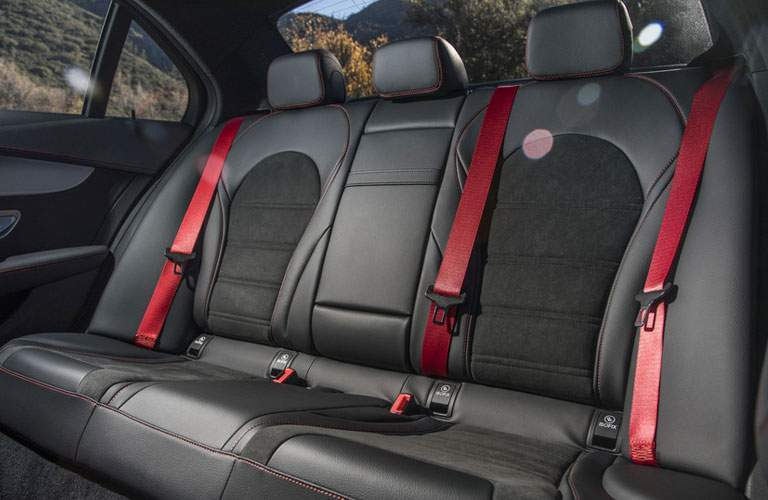 Rear seats in the 2018 Mercedes-Benz AMG C 43