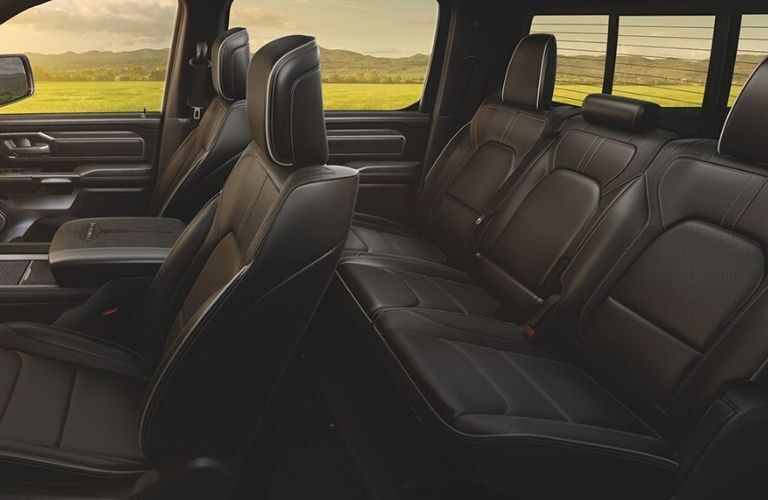 Interior view of the seating available inside a 2020 RAM 1500