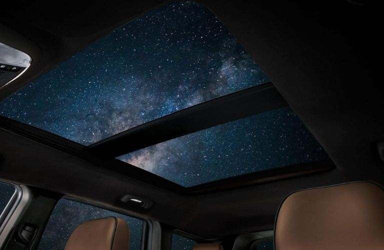 2020 Jeep Grand Cherokee sunroof view