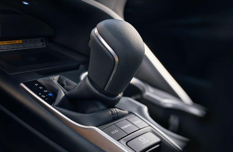 An image of the center console inside a 2020 Toyota Camry.