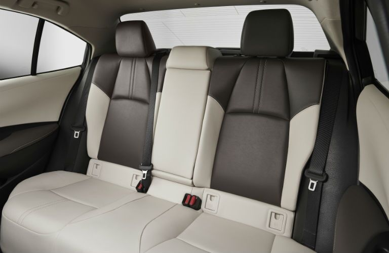 A photo of the rear seats in the 2020 Toyota Corolla.