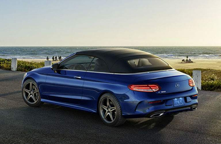 2018 Mercedes-Benz C-Class parked by the ocean