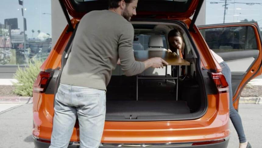 Tiguan's increased cargo capacity